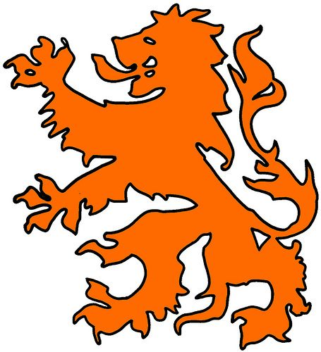 """The dutch lion is a symbol that you see a lot on old shields and """"coat of arms"""". The dutch lion is a symbol of being strong, and the symbol of the country, like the Germans have the black eagle. Besides that, the map of The Netherlands does also look a little like a lion. A lion is a strong animal, that is why the dutch lion gives me a feeling of strength. It show the solidarity of all the dutch people. (Kevin Ewalds)"""