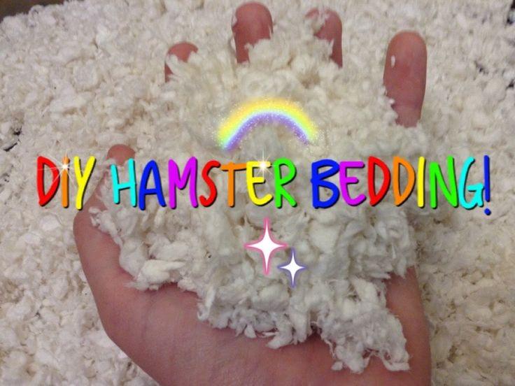 DIY Hamster Bedding