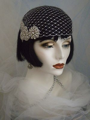 1920's Headpiece,Flapper Headband,Gatsby,Vintage,Silver EV Studio #414 | Clothing, Shoes & Accessories, Women's Accessories, Fascinators & Headpieces | eBay!