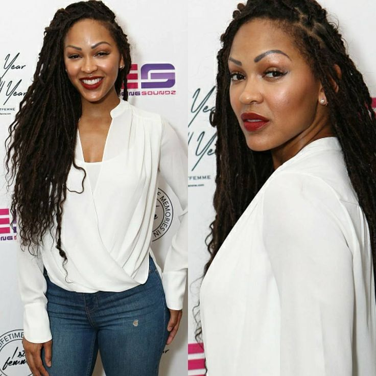 Image result for meagan good goddess faux locs