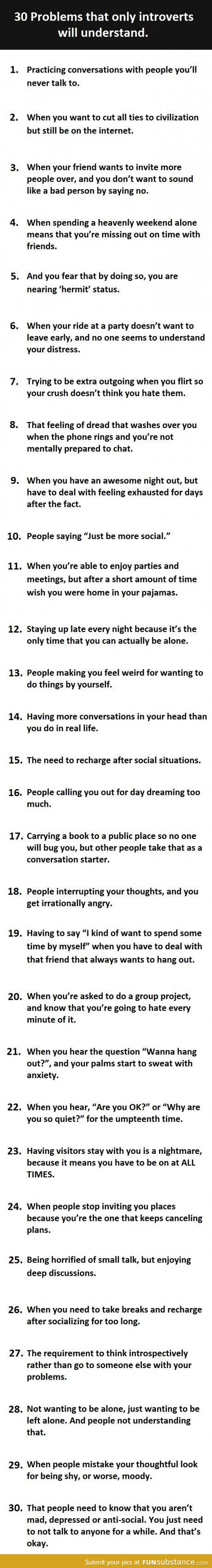 "Wow, these are very true...I'd like to be friends with the person who made this list...they would ""get"" me."
