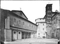 Roma - Basilica dei Ss. Giovanni e Paolo, facciata e campanile Cronologia del fototipo 1870-1890