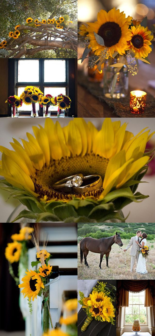 sunflower wedding we ♥ this! moncheribridals.com