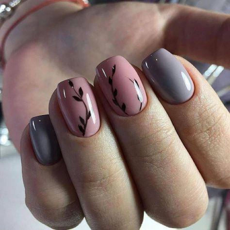 70 + Cute Simple Nail Designs 2017