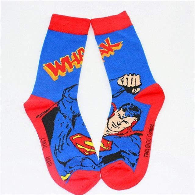 Superman Adult Crew Socks