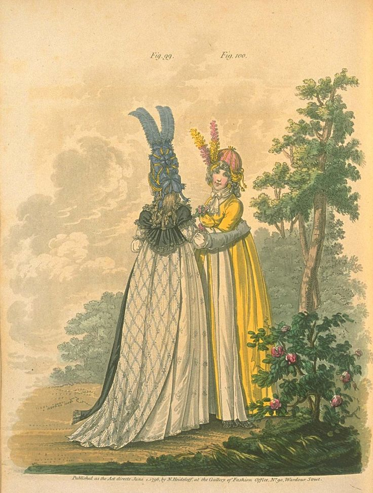 Gallery of fashion June 1796 - Morning dresses