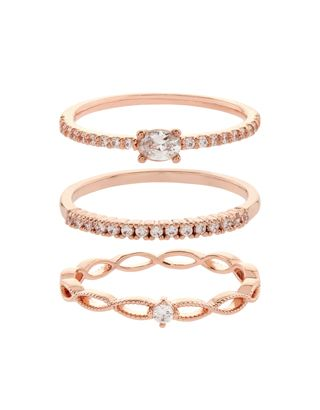 Part of our Z for Accessorize collection. Whether worn individually or stacked up for a statement look, our rose gold-plated rings will bring sparkle to your...