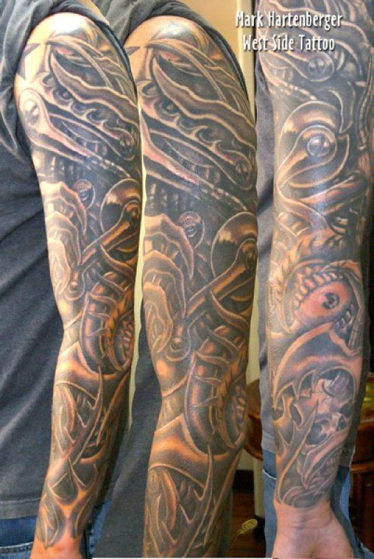 freehand cover up biomech sleeve black gray tattoos pinterest sleeve tattoos and body. Black Bedroom Furniture Sets. Home Design Ideas