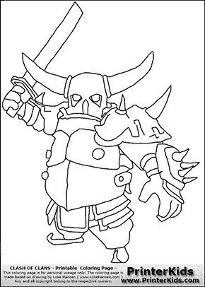 Clash Clans Coloring Pages