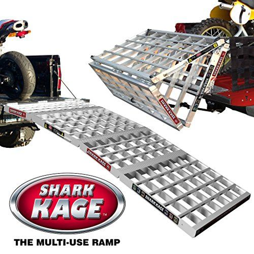 6 In1 Multi-functional Aluminum Folding Ramp. Bed Extender, Cargo Cover, Plus. Aluminum Folding Ramp, Motorcycle Loading Ramp, Folding Ramp, Wide Sxs, ATV Ramp. Must See to Believe! Shark Kage http://www.amazon.com/dp/B00MTYWQ66/ref=cm_sw_r_pi_dp_uMVnwb1BZRDR1