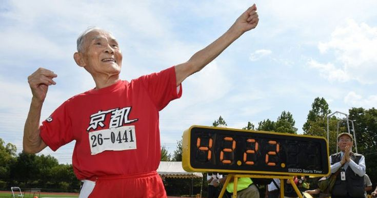 105-year-old Hidekichi Miyazaki recently set the 100m world record for the 105+ category with an impressive time of 42.22 seconds.