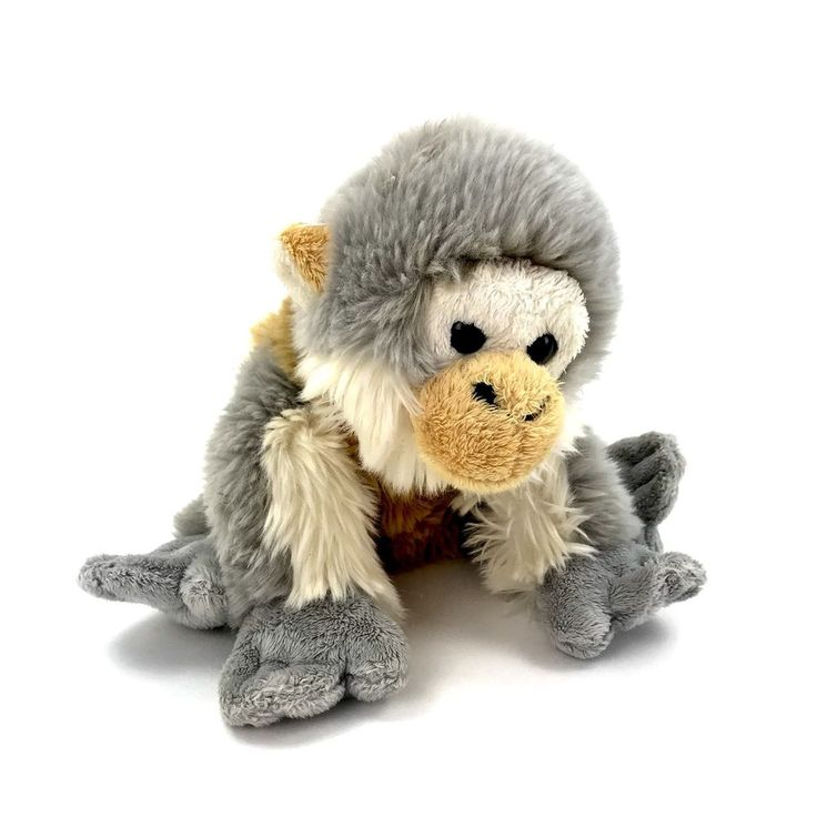 "Monkey Teddy Grey White Brown Collectable Gift Present kids soft toy 14"" chimp"