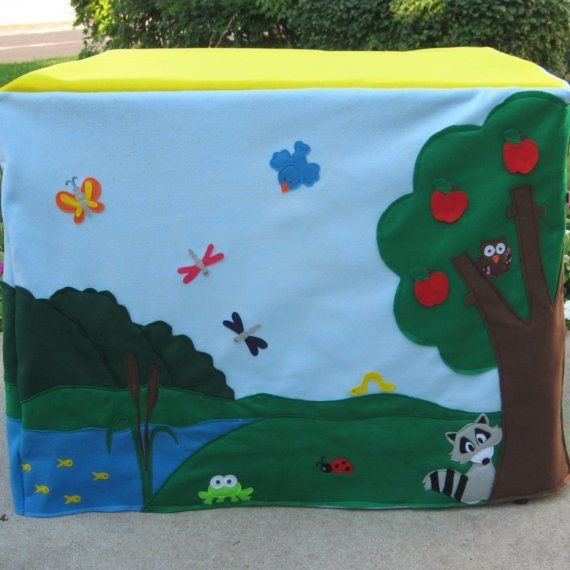Card Table Playhouse Animal Sanctuary Felt door missprettypretty