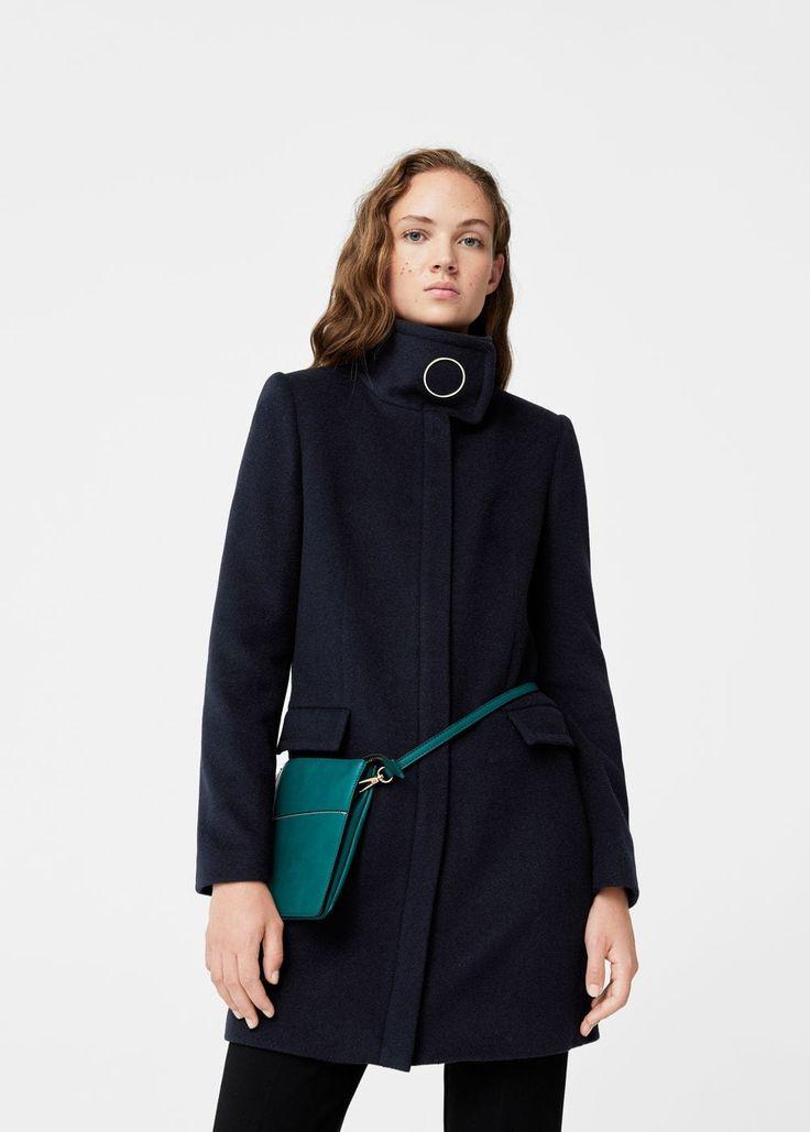 Manteau laine anneau | MANGO