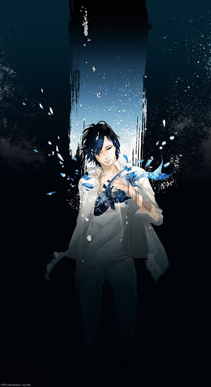 Re°, Sparkles, Jeans, Wind, Dark Background, Fish