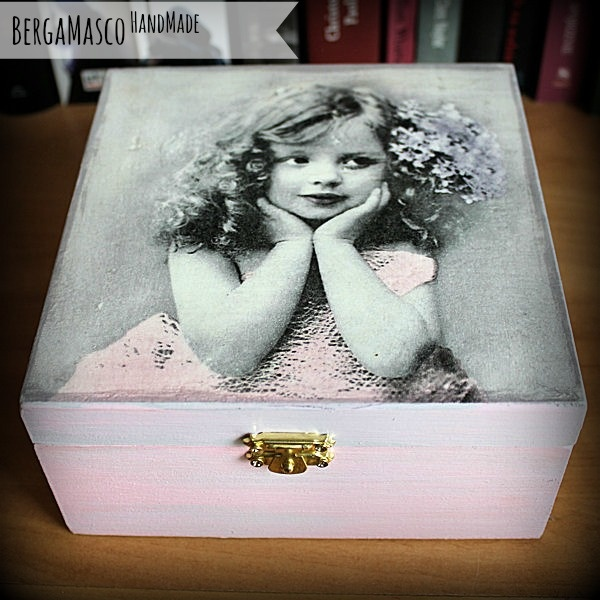 handmade box decoupage