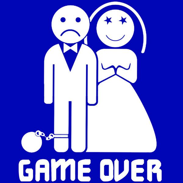 Shirtific Game Over Marriage Ball And Chain Bachelor