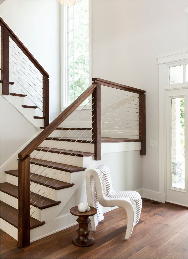 stair railings interior phoenix stairs outdoor balusters calgary cable railing stained handrail