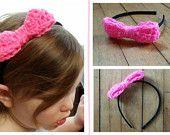 Headband & crochet bow