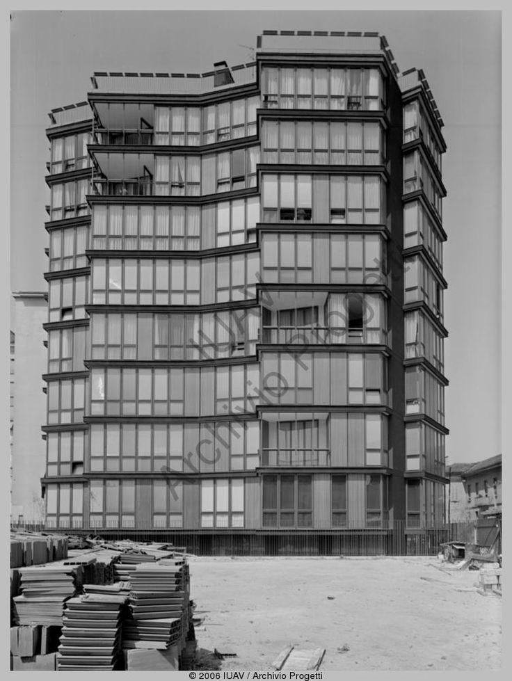 Angelo Mangiarotti, edificio per abitazioni in via Quadronno, Milano