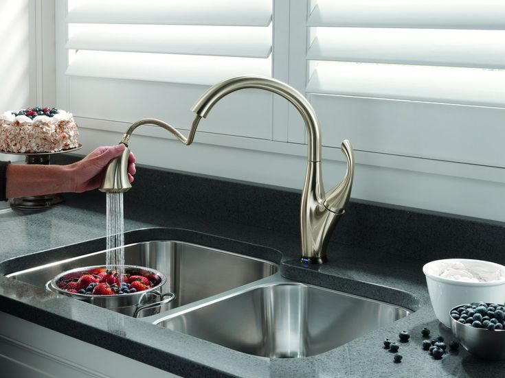 Top 5 Touchless Kitchen Faucets. The Moen Motion Sense Pull Down Kitchen  Faucet Works Touchless
