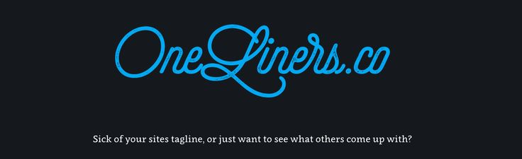 OneLiners.co is like 99designs for company taglines (except it's free). via @thenextweb