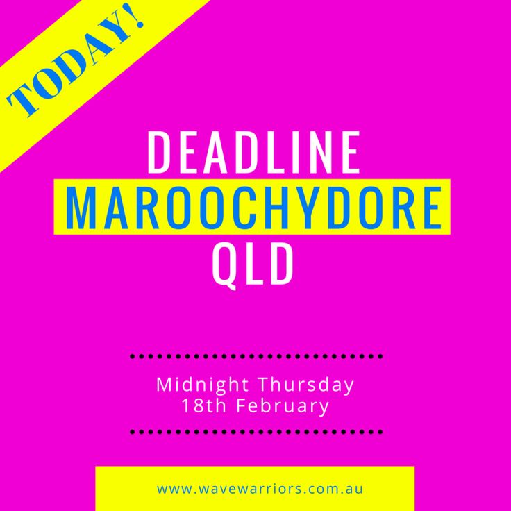 Entries close for Maroochydore, QLD tonight, Thursday 18 February at midnight! Register here: http://bit.ly/1O7Mar9 Remember, Medibank members get 15% off entry at checkout. #medibankwavewarriors #GenBetter #wavewarriors #wavewarriorsaus #surflifesaving #maroochydore