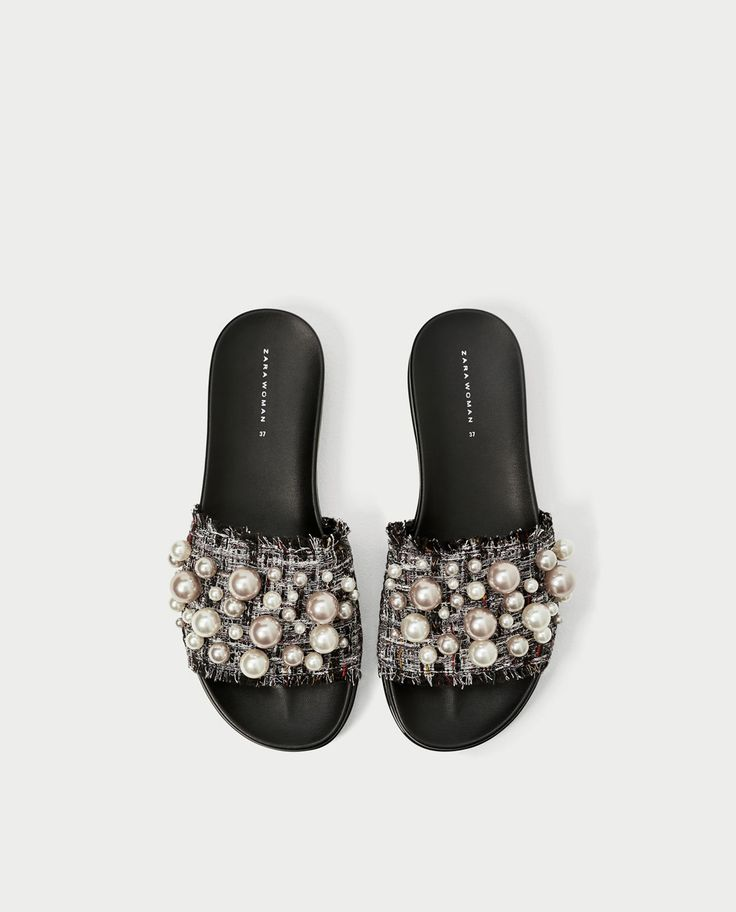 ZARA - WOMAN - SLIDES WITH FAUX PEARLS