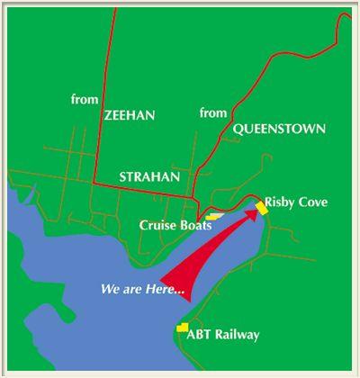 Strahan map - Strahan Accommodation – Risby Cove – Luxury Tasmanian Waterfront Accommodation – Strahan, Tasmania, Australia