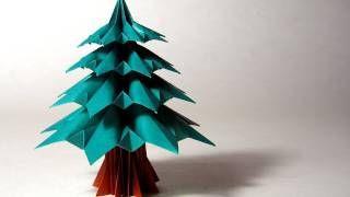 Christmas Origami Instructions: Fir Tree (Francesco Guarnieri), via YouTube.