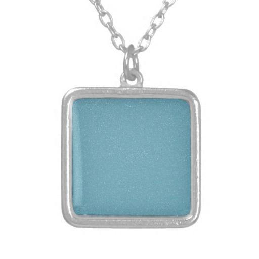 PANTONE Aquamarine babyblue with faux fine Glitter Necklace