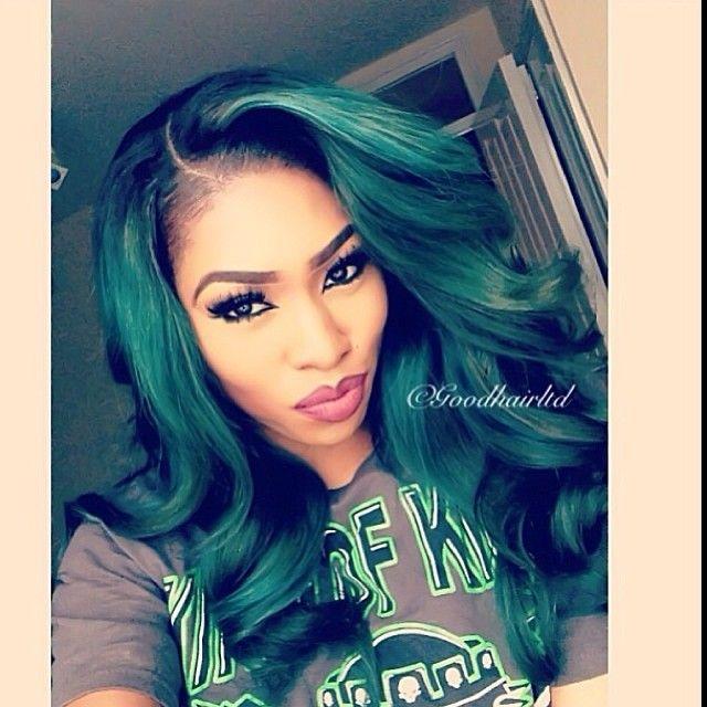 Green hair so beautiful