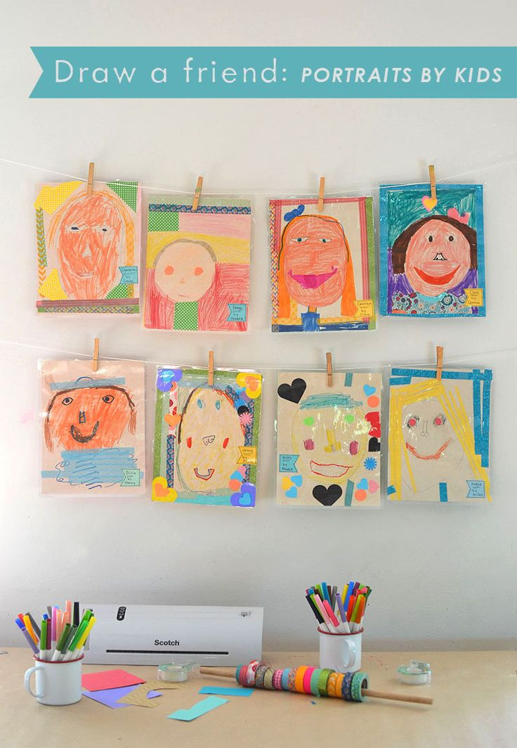 Children draw portraits of each other, inspired by the book The Name Jar, and then use the @scotchbrand Thermal Laminator to make their portraits everlasting.