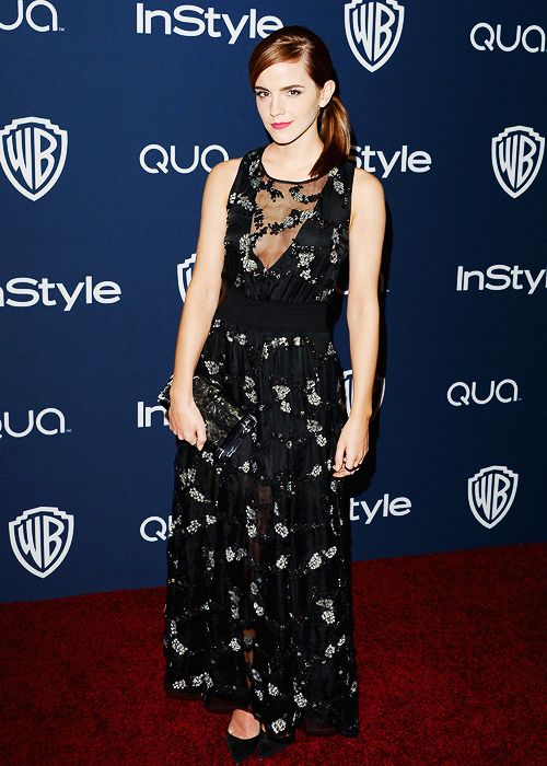 Emma Watson | 2014 InStyle And Warner Bros. 71st Annual Golden Globe Awards Post-Party (Jan. 12, 2014)