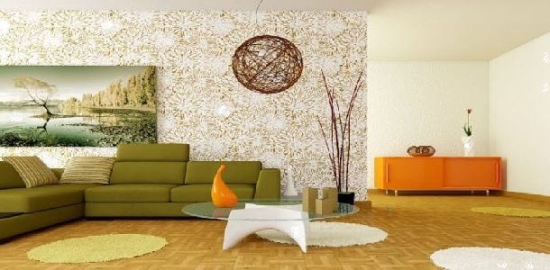 Easy Feng Shui Living Room with Several Wood Elements in a Modern Decor