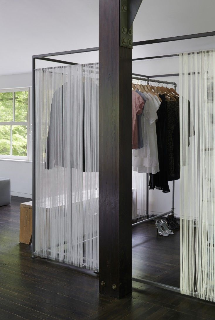 Great and cheap walk-in wardrobe idea Architect Takaaki Kawabata's Hudson Valley open-plan house   Remodelista
