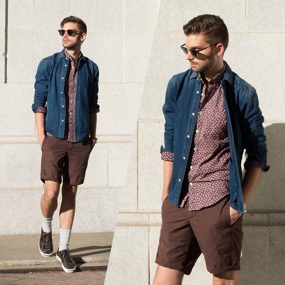 Scotch & Soda Shirt Jacket, J. Crew Shirt, Gap Shorts #fashion #mensfashion #menswear #mensstyle #streetstyle #style #outfit #ootd