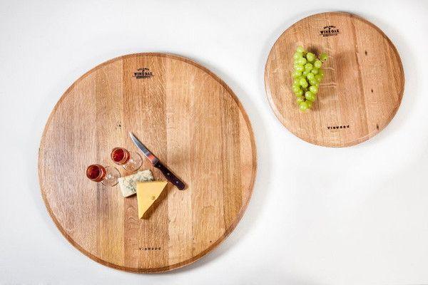 Handcrafted wine oak kitchen furniture Dimensions : 55 cm diameter