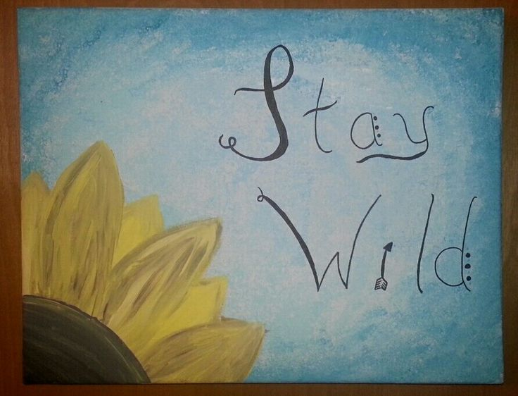 Stay Wild Child Canvas  Sunflower    •Kenny Chesney Quote
