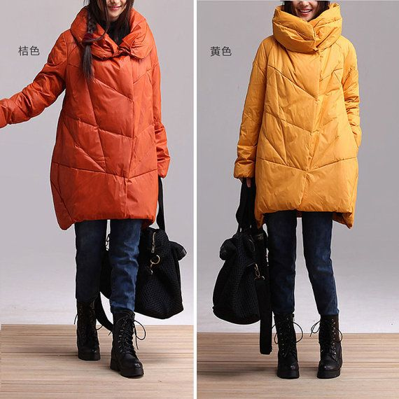 2colors duck down  warm Thicken cotton  long plus size cotton-padded jacket  casual jacket  long clothing  AOLO-452