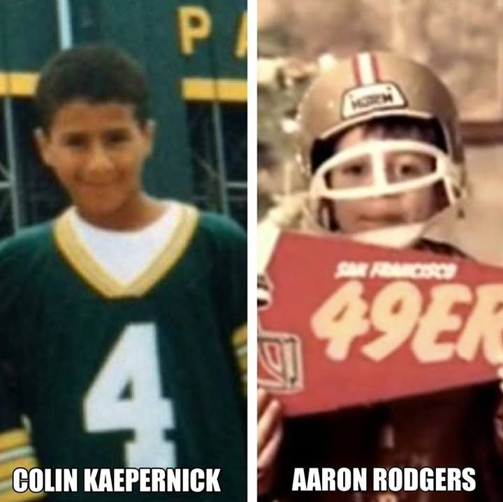 Not an Aaron Rodgers fan on any account (GO COLIN!), but this is adorable on both accounts.