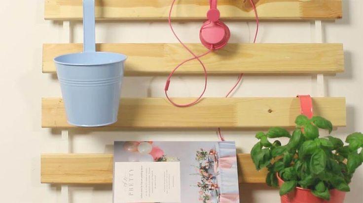 lattenrost zum stylischen wand organizer verwandeln ideen zum selbermachen pinterest. Black Bedroom Furniture Sets. Home Design Ideas