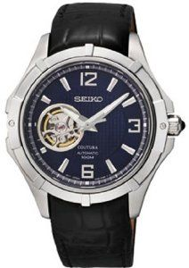 Seiko Coutura Automatic Men's watch #SRP317 Seiko. $212.00. Functions:Hours, Minutes, Seconds, Power Reserve. Dial Color:Blue. Hands:Luminous, Silver Tone. Crystal Material:Sapphire - Scratch Resistant. Movement:Automatic, Caliber: 4R38. Save 46% Off!