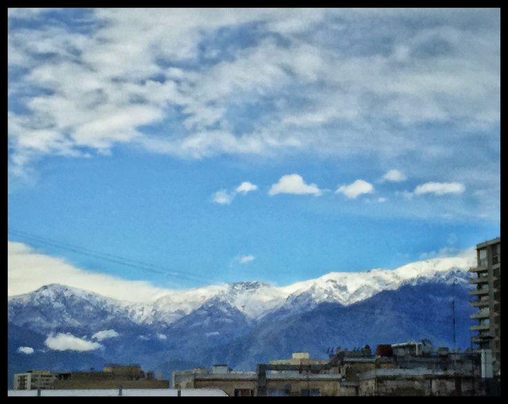 #Cordillera después de una lluvia de primavera #Santiago #Nieve #SiempreBella