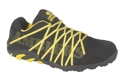 These Amblers FS25 Styled Safety Trainers are both striking and versatile. They are constructed with a water resistant and breathable mesh upper with stylish yellow overlays and bright laces. Being a safety trainer they offer extra protection over your normal sneakers - see our website for more details. mammothworkwear.com