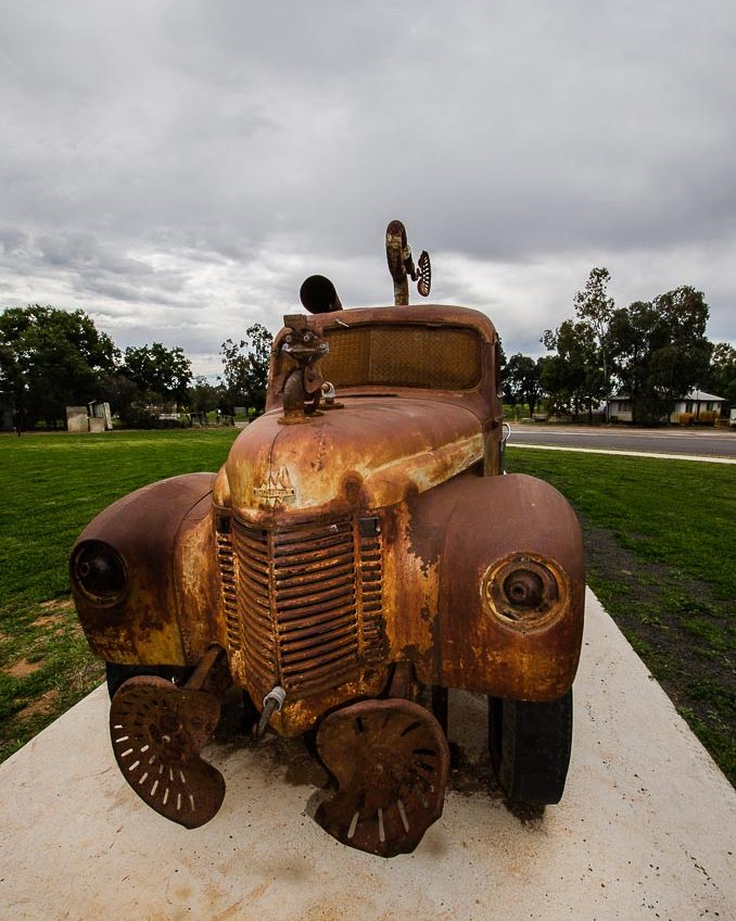 The Tambo Truck  Wild and Wooly by Artist Christopher  Trotter 2015  #history #oldvehiclesrock #woolindustry #transportation #qld #tambo #everything_transport