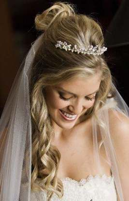 Super bridal hairstyles for long hair with veil curls hairdos 23 ideas
