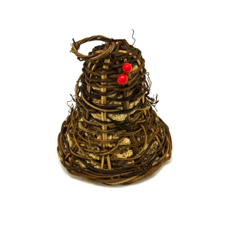 BELL Suet Vine Shaped Tree. Has vine form with ring for hanging and ribbon for decoration.