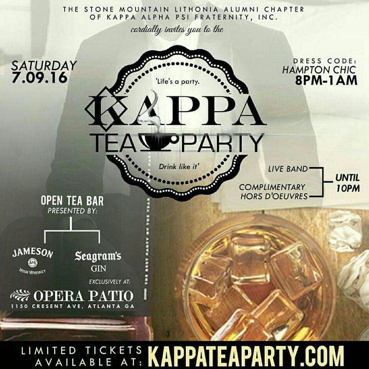 Kappa Tea Party | Atlanta, GA  ♢♢AKA BOULE 2016♢♢