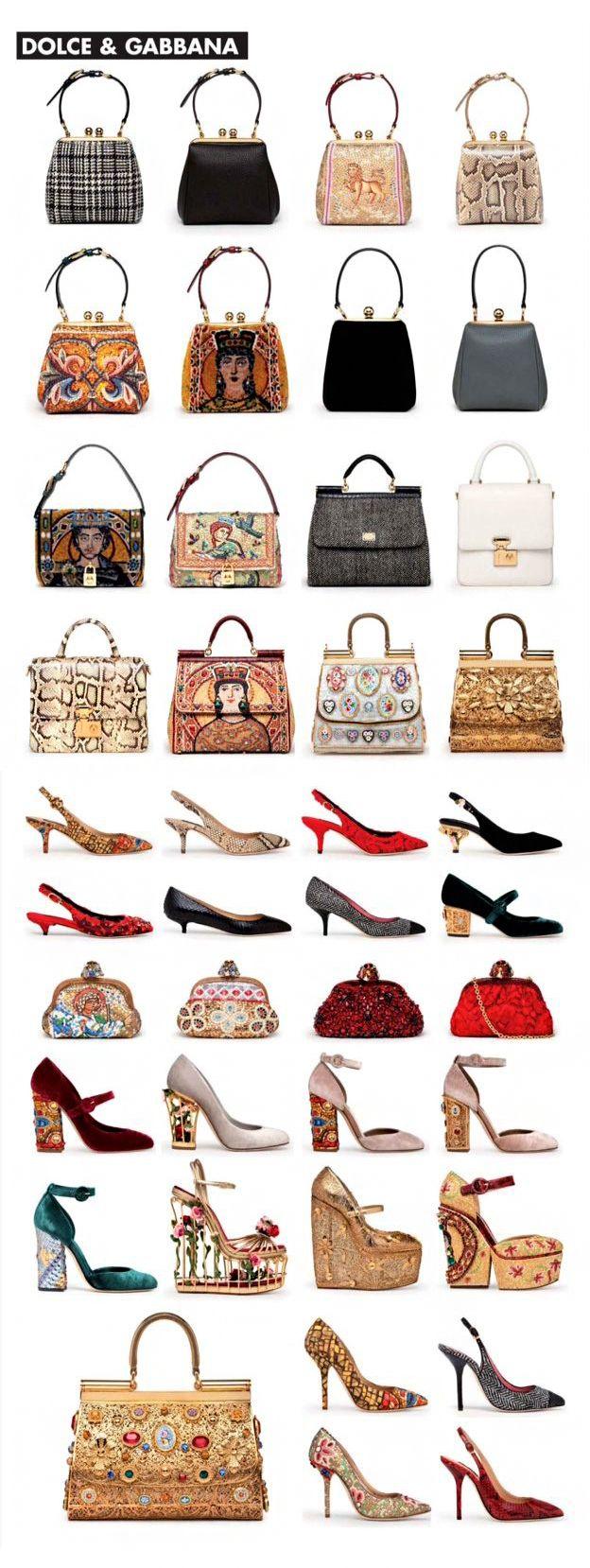 Dolce & Gabbana accessories a/w 2013 - I adore those handbags!